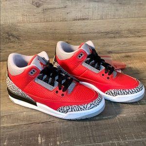 Air Jordan 3 Retro SE (GS) - Fire Red/Cement Grey